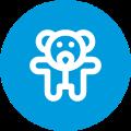 pictogramme garde d'enfant de plus de trois ans